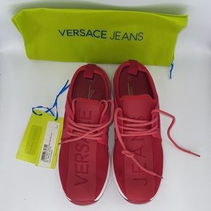 New in box Versace a jeans red sneakers size 41